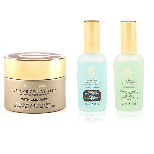 Image of Elizabeth Grant Supreme Cell Vitality with Ceramide 3pc Collection (Face Cream, Day & Night Serums)