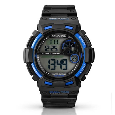 Sekonda Gents Digital Blue Watch with Plastic Strap