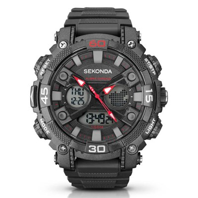 Sekonda Gents Digital Watch with Plastic Strap