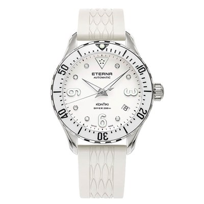 Eterna Ladies Swiss Kontiki Diver Sellita SW200-1 Watch with Silicone Strap