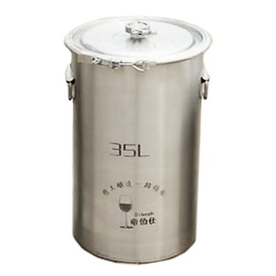 304 Stainless Steel Fermenter Fermentation Barrel Home Brew Wine Beer Fermenters 35L Without Faucet