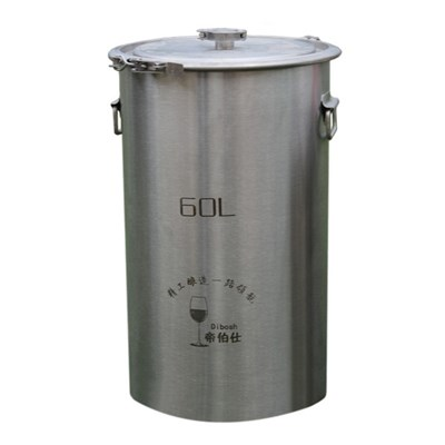 304 Stainless Steel Fermenter Fermentation Barrel Home Brew Wine Beer Fermenters 60L Without Faucet