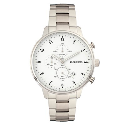 Breed Gents Holden Chronograph Watch with Stainless Steel Bracelet