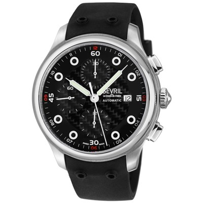 Gevril Gents Ltd Ed Canal St Swiss Automatic Sellita SW500 Watch with Genuine Leather Strap & Complimentary Gift