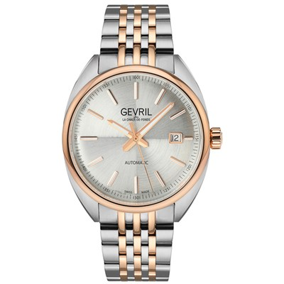 Gevril Gents Ltd Ed Five Points Swiss Automatic Sellita SW200 Watch with Stainless Steel Bracelet & Complimentary Gift