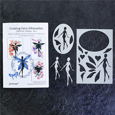 Sanntangle Creating Fairy Silhouettes Stencil Set 1