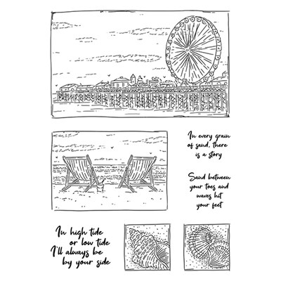 For the Love of Stamps - Beach View A6 Stamp Set