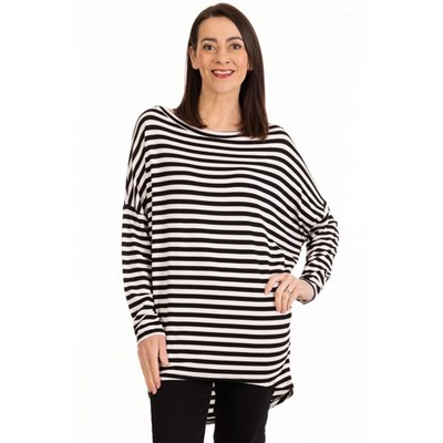 Fizz Black Stripe Tunic