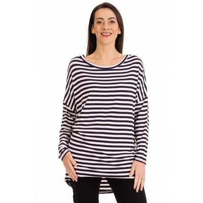 Fizz Navy Blue Stripe Tunic