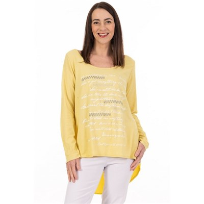 Fizz Bamboo Graffiti Top