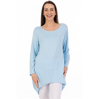 Fizz Pale Blue Panelled Tunic