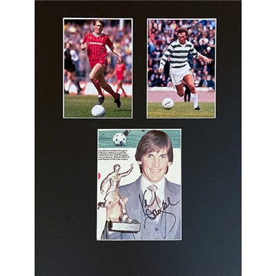 Sir Kenny Dalglish Mounted Photo Montage & Signature Display Personally Signed