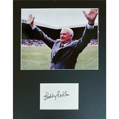 Sir Bobby Robson Mounted Photo & Signature Display Personally Signed