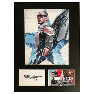 Anthony Mackie as Falcon Photo Montage Personally Signed
