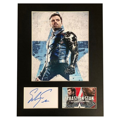 Sebastian Stan as Winter Soldier Photo Montage Personally Signed