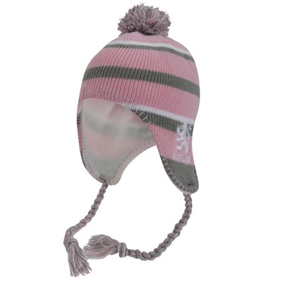 Ladies/Womens Scotland Lion Pink Winter Hat, Thermal Peruvian Hat With Tassels