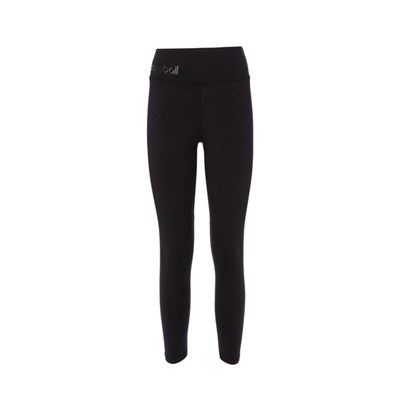 High Waist Tights Line. Woman Running Leggins Black With White Logo. A High Tech With Great Flexibility, Soft Feel With Maximum Breathability.