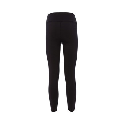 Natural High Waist Tights. Woman Running Leggins Black With Black Logo. A High Tech With Great Flexibility, Soft Feel With Maximum Breathability.