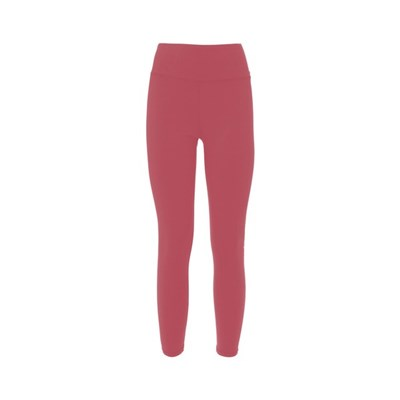 Natural High Waist Tights. Woman Running Leggins Pink With White Logo. A High Tech With Great Flexibility, Soft Feel With Maximum Breathability.