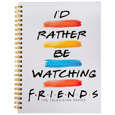 Friends Id Rather Be Watching 6 x 8 Inch Hard Cover Spiral Journal