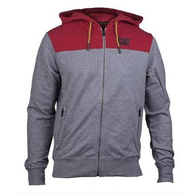 CAT Lifestyle Mens Block Zip Up Hooded Jacket