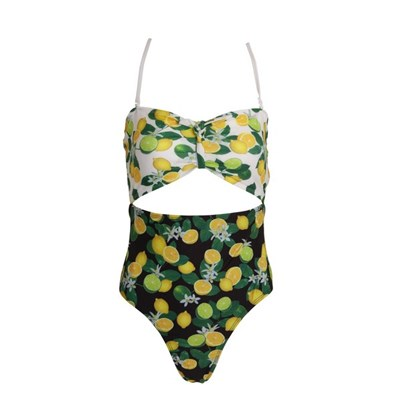 Brave Soul Womens/Ladies Fruit Print Bandeau Swimming Costume