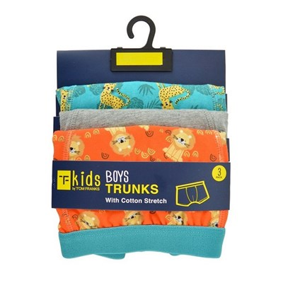 Tom Franks Boys Safari Print Trunks (Pack Of 3)