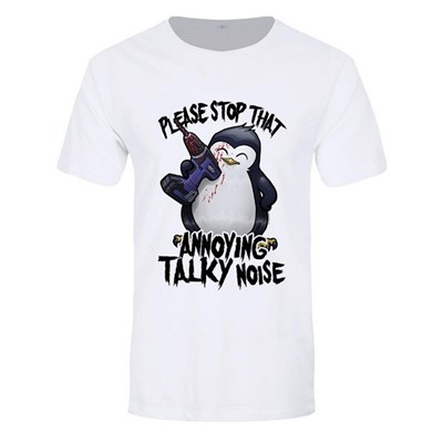 Psycho Penguin Mens That Annoying Talky Noise T-Shirt
