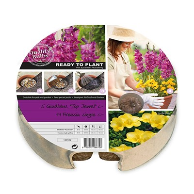 Pair of Plant-O-Mat Gladiolus and Freesia Mix Drop-in Kits