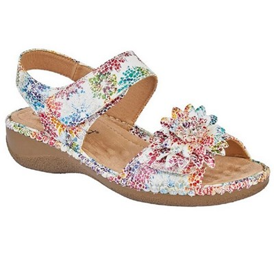 Boulevard Womens/Ladies Floral Twin Touch Fastening Sandal