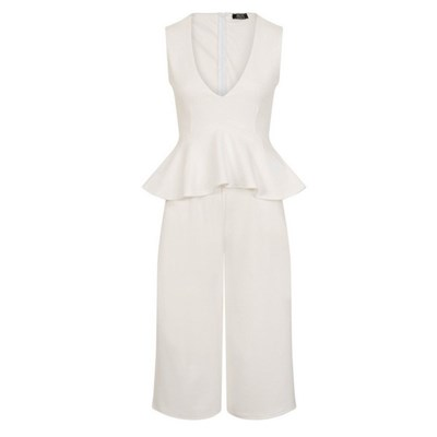 Girls On Film Womens/Ladies Jamal Peplum Plunge Jumpsuit