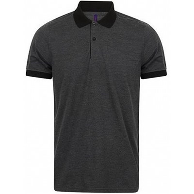 Henbury Mens Contrast Tri-Blend Jersey Polo Shirt