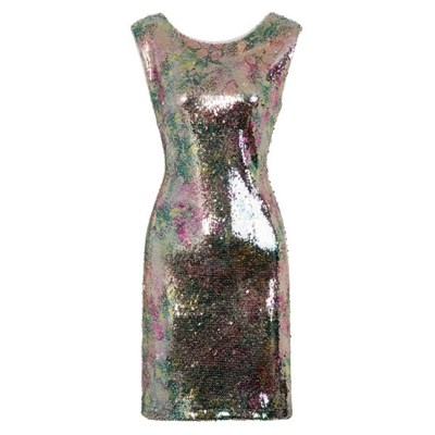 Girls On Film Womens/Ladies Aion Metallic Sequin Dress