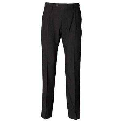 Henbury Mens Polyester Single Pleat Workwear Trousers