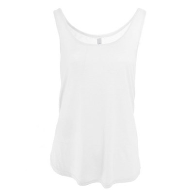 Bella Womens/Ladies Flowy Side Split Sleeveless Tank Top