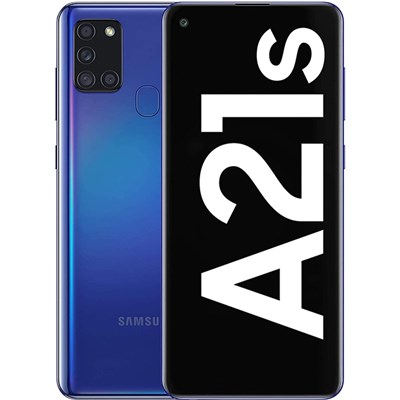 Samsung A21s 128GB Smartphone in Blue with Free Black Flip Case