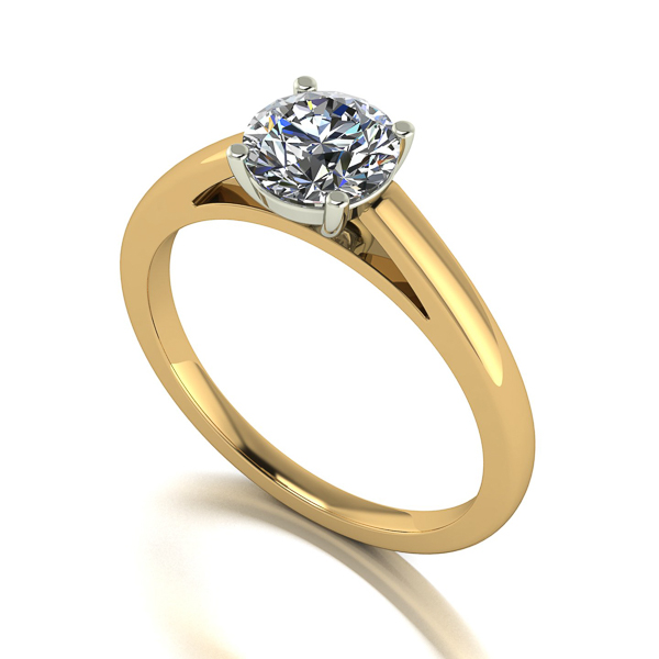 Image of Lady Lynsey Moissanite 9ct Gold 1.00ct eq Solitaire Ring