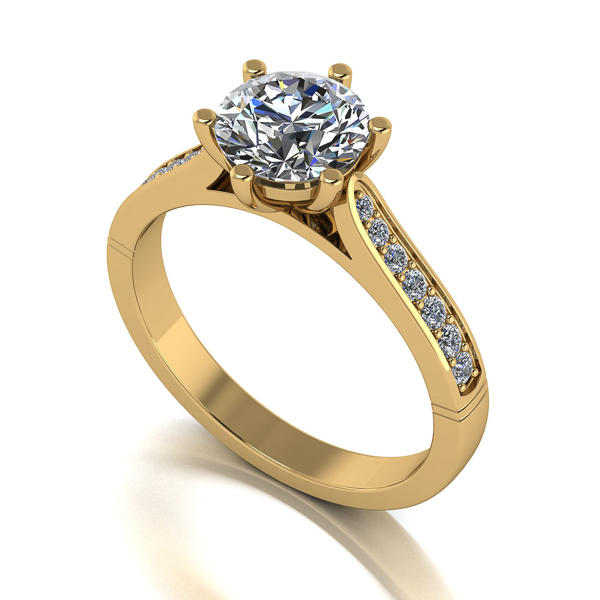 Image of Lady Lynsey Moissanite 9ct Gold 1.40ct eq Solitaire Ring