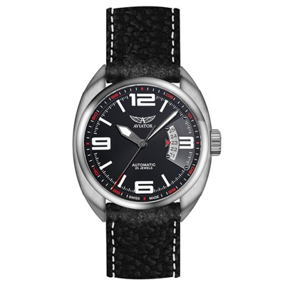 Aviator Gents Properller Rotor Swiss Automatic Watch with Genuine Leather Strap & Additional Strap