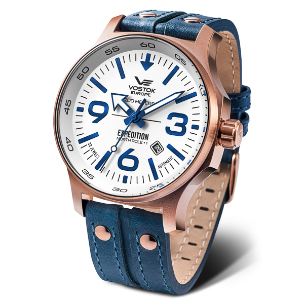 Image of Vostok Europe Gents Expedition N1 Seiko Automatic PVD Watch with Genuine Leather Strap