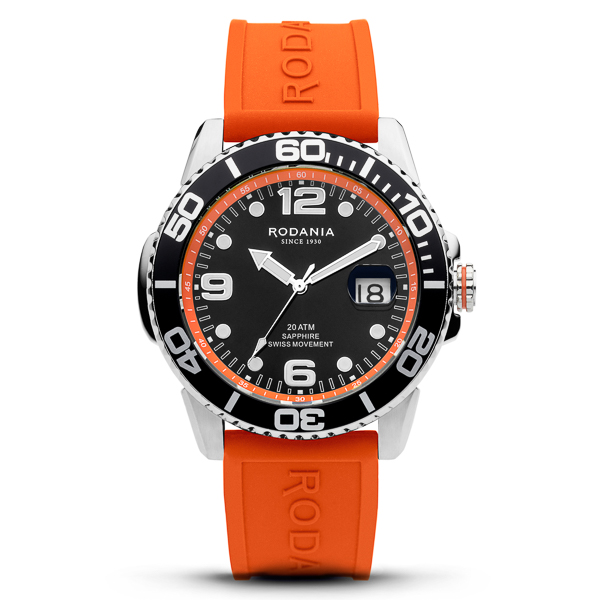 Image of Rodania Gents Swiss Cycling Watch with Silicone Strap & Additional Strap