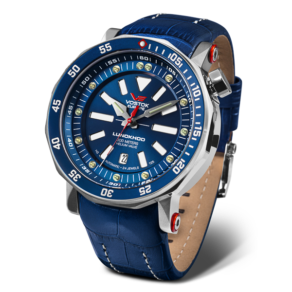 Image of Vostok Europe Gents Lunokhod-2 Automatic Watch with Genuine Leather Strap and Extra Strap