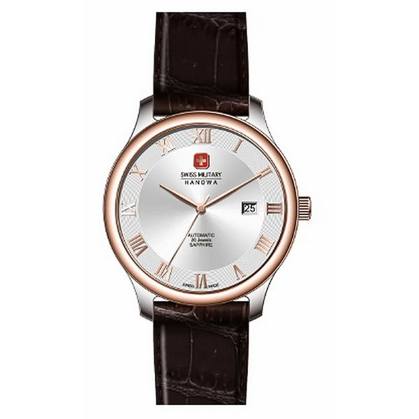Image of Swiss Military by Hanowa Gents Delta Automatic Watch with Genuine Leather Strap