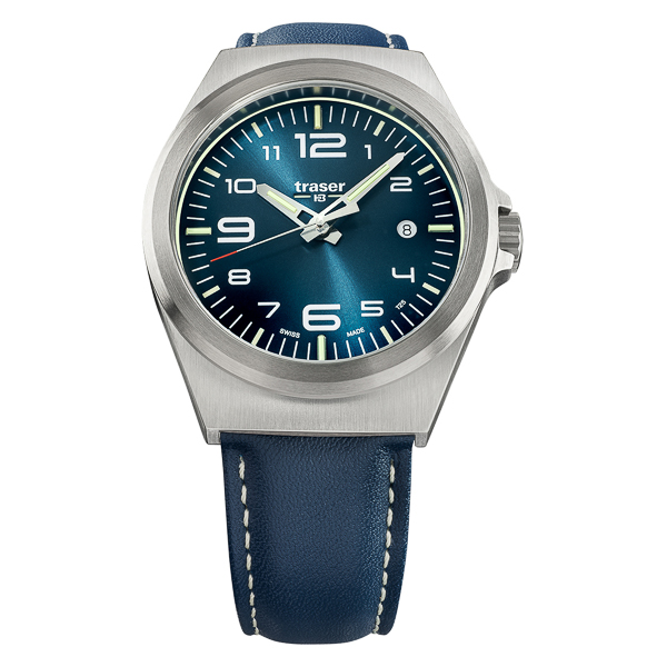 Image of Traser Gents Swiss Made P59 Swiss Ronda Watch with Genuine Leather Strap
