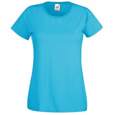 Fruit Of The Loom Ladies/Womens Lady-Fit Valueweight Short Sleeve T-Shirt (Pack Of 5)