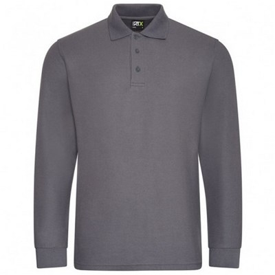 PRORTX Mens Long-Sleeved Polo Shirt