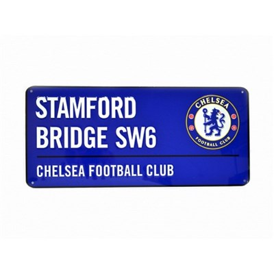 Chelsea FC Official Football Coloured Metal Street Sign