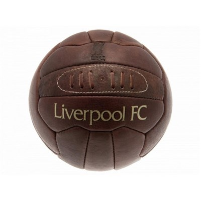Liverpool FC Official Retro Heritage Leather Football