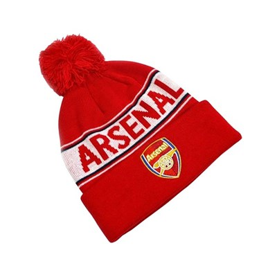 Arsenal FC Unisex Adults Knitted Bobble Hat