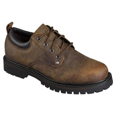 Skechers Mens Tom Cats Leather Lace Up Shoe